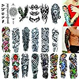 Full Arm Temporary Tattoos 20 Sheets,Tattoo Sleeves for Men and Women Waterproof Fashion Removable Extra Large Temporary Tattoos Stickers