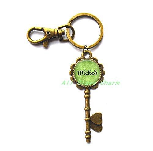 Charming Key Keychain,Halloween Costume Key Keychain Key Key Ring - Wicked - Wicked Key Keychain - Wicked Key Key Ring - Witchy Woman - Witch -