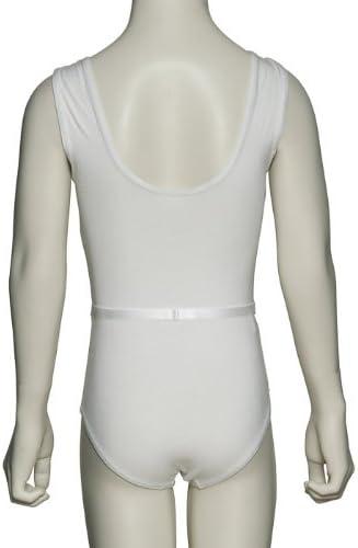Katz Dancewear Sizes Ballet Dance RAD Uniform Sleeveless Cotton Lycra Leotard And Belt KDR007