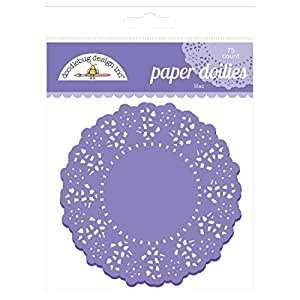 Doodlebug Lilac Doilies for Decoration, Purple