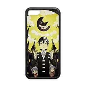 ROBIN YAM Soul Eater Death the Kid iPhone 5C Cases, Hard TPU Rubber Coated Phone Case Cover -CRY471