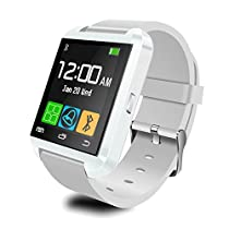 Aipker U8 Bluetooth Smart Watch with Altimeter for Samsung LG Sony Android Phone White