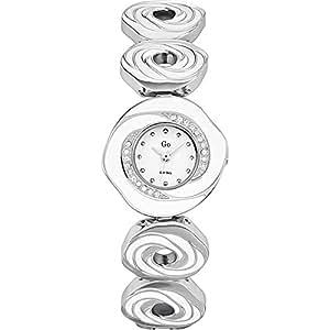 GO Girl Only 694568 - Reloj analógico de cuarzo para mujer con correa de latón, color blanco