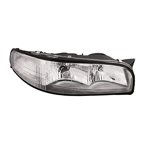 HEADLIGHTSDEPOT Chrome Housing Halogen Headlight Compatible with Buick LeSabre 1997-1999 Includes Right Passenger Side Headlamp