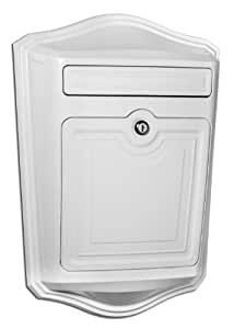Architectural Mailboxes 2540W Maison Locking Wall Mount Mailbox, White