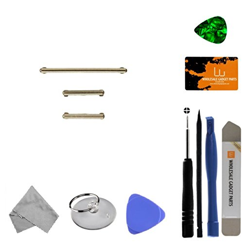 Button Set (Volume, Power, & Bixby) for Samsung Galaxy S8 (Gold) with Tool Kit by Wholesale Gadget Parts (Image #2)