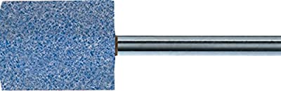 "PFERD 30151 Vitrified Bond Mounted Point, Ceramic Oxide, Shape W189, 1/2"" Diameter x 2"" Length, 1/4"" Shank, 24000 rpm, 46 Grit (Pack of 10)"