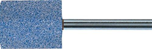 PFERD 30146 Vitrified Bond Mounted Point, Ceramic Oxide, Shape W185, 1/2'' Diameter x 1/2'' Length, 1/4'' Shank, 34500 RPM, 80 Grit (Pack of 10)