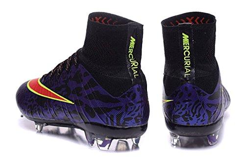 Generic hombres hi top zapatos de Mercurial Superfly 4FG Botas de fútbol