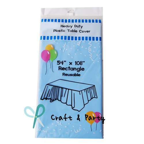 Plastic Table Covers Tablecloth (Reusable) (Rectangle 54