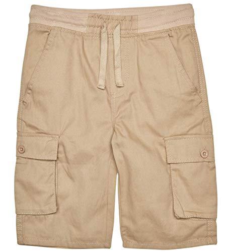 (Quad Seven Boys Pull-On Twill Cargo Shorts, Khaki, Size 10')