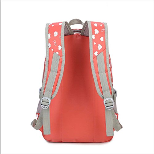 Backpack Secondary School Backpack Bag Pink Student Travel Bag Woman Outdoor Shoulder Casual xUBwPq