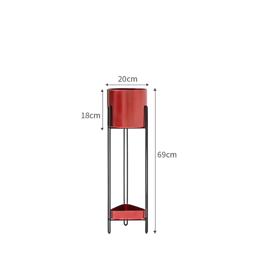 Lxlc Supporto per Fiori in Ferro Supporto per Fiori Interno Esterno Supporto per Fiori da Terra Moderno e Semplice Supporto per Fiori Mensola per fioriera (Dimensioni   69cm)