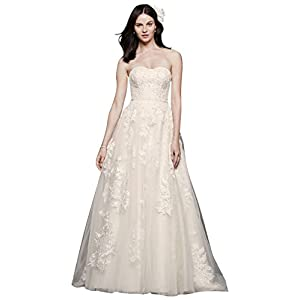 4a21e5423b75e Tiered Lace Mermaid Wedding Dress with Beading Style MS251175