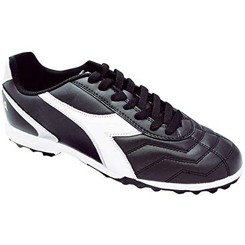 Diadora Men's Capitano Turf Soccer Shoes, Black/White, 9.5 M US
