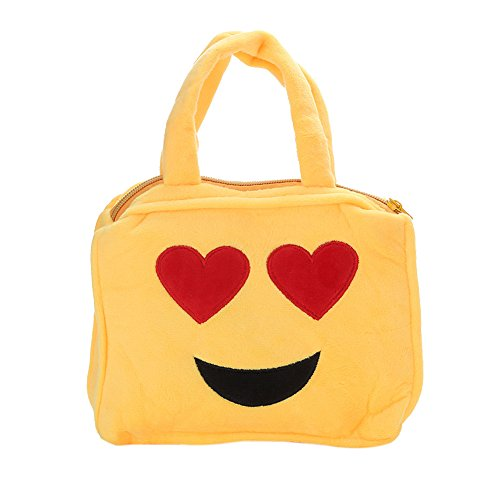 Qualilty Bolso de mano para niños y estudiantes, color amarillo, peluche, redondo, bolso de hombro, yellow 3 yellow 1