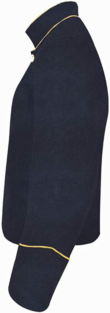 Civil War Navy Blue Shell Jacket Trim Yellow Reservation Popular shop is the lowest price challenge With PIPING