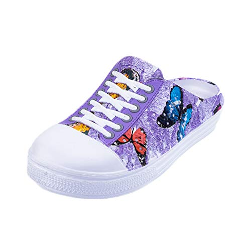 Sandals, Ladies Flower Butterfly Shoes Sandals Purple - Womens Trekker Sandal Massage