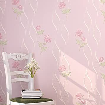 Retro Country Flower Pattern Eco-Friendly Beautiful Floral Wall Paper Wallpapers for Wall for Living Room Bedroom Tv Backdrop Wall 0.53m(20.8')*10m(32.8')=5.3SQM(57sqfeet),Pink 5-8702,Wallpaper only