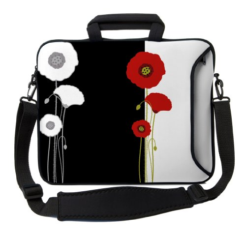 designer-sleeves-14-inch-poppies-executive-laptop-case-black-white-14es-pop