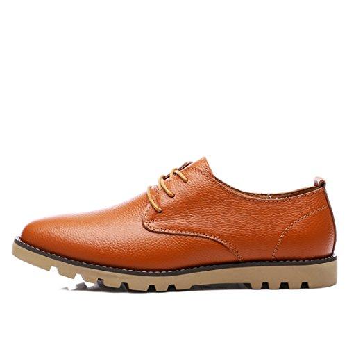 Xiafen Mens Comfort Business Mode Casual Massage Loafers Finskor Brun