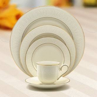 Lenox Courtyard Gold Ivory China Saucer (Lenox Courtyard Gold Ivory China)
