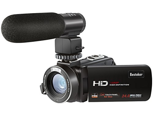 ANDEX Wifi Camcorder Full HD 1080P 30FPS Portable Digital Video Camera with External Microphone (HDV-Z20)