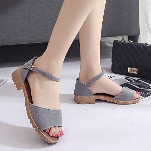 Femmes De Mode À Chaussures Plates Rome coloré Simples Oudan Assorties Bout 39 Talons Blanc Chaque Pour Taille Blanc La Bas Sandales E1w0ZYxYq