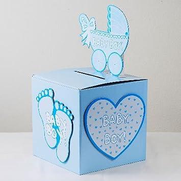 Amazon iparty123 baby shower baby boy wishing well box gift iparty123 baby shower baby boy wishing well box gift card box holder negle Images