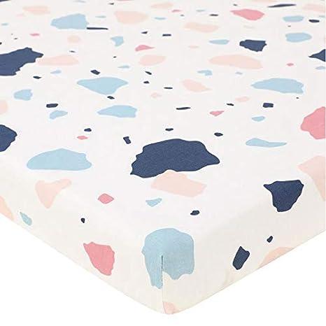weich Bedruckt f/ür Kinderzimmer Flamingo atmungsaktiv AOLVO Spannbettlaken f/ür Babybett hypoallergen 100/% Baumwolle