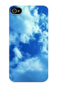 Catenaryoi Sanp On Case Cover Protector For Iphone 4/4s (white Clouds And Blue Sky) For Christmas Day's Gift wangjiang maoyi
