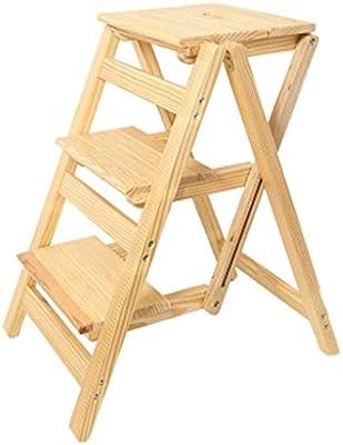 SED Escaleras de Tijera Domésticas de Uso Múltiple, Escalera Interior Taburetes para Sillas Escalera Espesar Escalón Escalera Plegable para el Hogar Escalera de Tres Escalones Pedal Móvil para Escala: Amazon.es: Bricolaje y