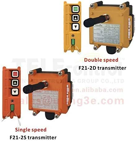 Radio remote control hoist - Color: 18-65V VHF310to331 Calvas Industrial remote control F21-2D 1 transmitter 1 receiver