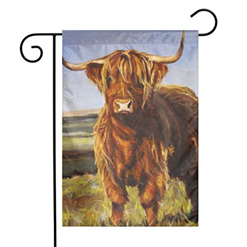 (Animal Yak Oil Paintings Garden Flags Home Indoor & Outdoor Holiday Decorations,Waterproof Polyester Yard Decorative for Game Family Party Banner)