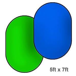 Easy Chromakey Backdrop Green & Blue 5'x7' Collapsible Chromakey Background Photo Disc, Photo Studio, JSAG191V2