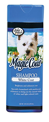 Four Paws Magic Coat White Coat Dog Grooming Shampoo, - Dog Coat Four Paws Magic Shampoo