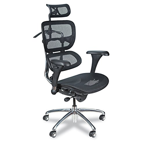 Balt Butterfly Ergonomic Executive Office Chair, Blach Mesh High Back,...