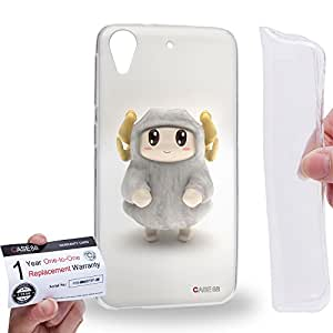 Case88 [HTC Desire 626 / 626s / 626G] Gel TPU Carcasa/Funda & Tarjeta de garantía - 3D Visual Design Sheepy A 3D Animals Art2073