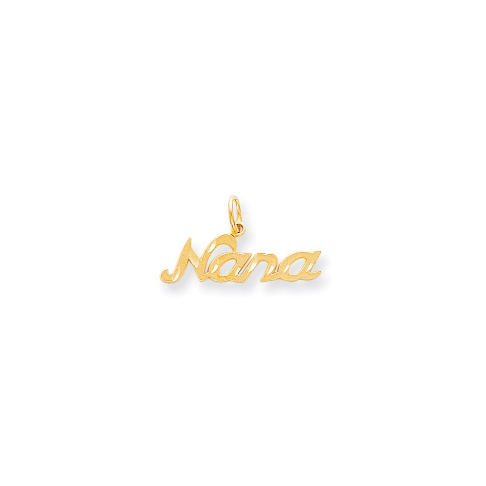 Mireval 10k Yellow Gold Nana Charm (29 x 15 mm)