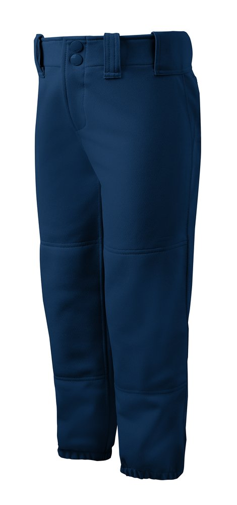 Mizuno Adult Women's Belted Low Rise Fastpitch Softball Pant, Navy, Small