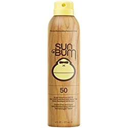 Sun Bum Original Moisturizing Sunscreen Spray SPF 50 | Reef Friendly Broad Spectrum UVA/UVB | Water Resistant Continuous Spray with Oil-Free Protection | Hypoallergenic, Paraben Free, Gluten Free| SPF 50 6 oz Bottle