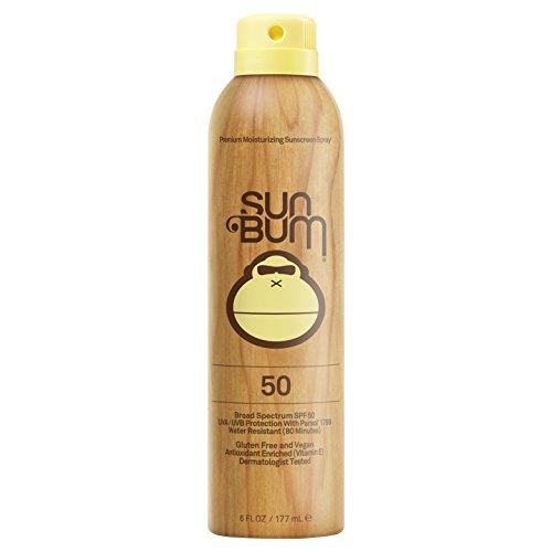 Sun Bum Moisturizing Sunscreen Spray, SPF 50, 6oz Bottle, Oil Free, Hypoallergenic, Packaging May Vary