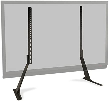 Atlantic Table Top TV Stand – Universal Adjustable Heavy Duty Table Top TV Stand, Adjust Height, Base Mount for Flat Screen up to 70 and 132 lbs, PN 63607232 in Black