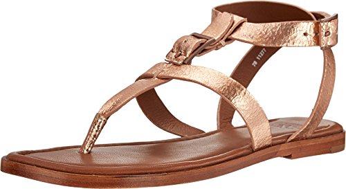 Johnston & Murphy Women's Tia Thong Sandal (7.5 B (M) US, Rose Gold)