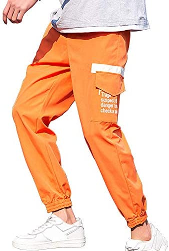 XYXIONGMAO Youth Multi-Pocket Men`s Pants Street Hip-hop Overalls Casual Loose Sweatpants