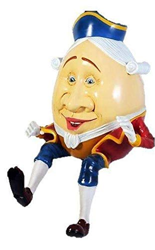 (LM Treasures Humpty Dumpty Sitting Life Size Statue Cartoon Prop Display Stool NOT Included)