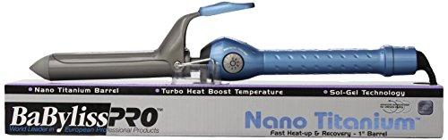 Babyliss Pro BABNT100S Профессиональный Nano Titanium Весна Керлинг железный, 1-дюймовый