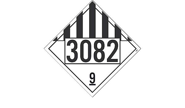 NMC DL149BP10 3082 9 Dot Placard Sign