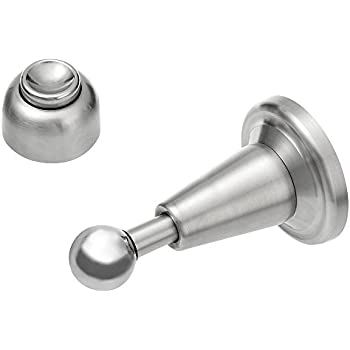 magnetic door stop walmart stoppers india stopper lowes stainless steel soft catch brushed satin nickel wall mount