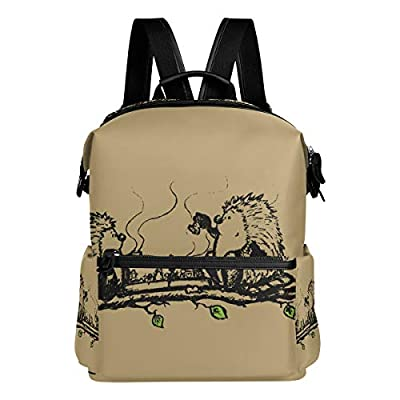 Dragon Sword Hedgehogs Playing Chess School Backpack College Bags Daypack Bookbags for Teen Boys Girls